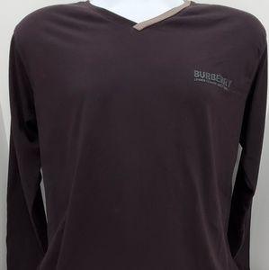Burberry mens long sleeve knit shirt